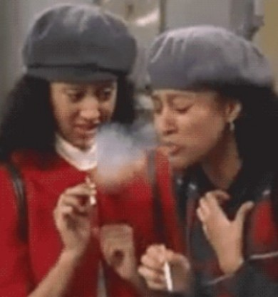 tia and tamara smoking